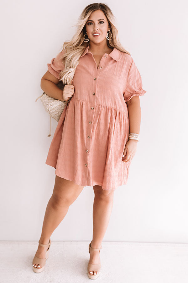 Brooklyn Luxe Babydoll Dress In Latte
