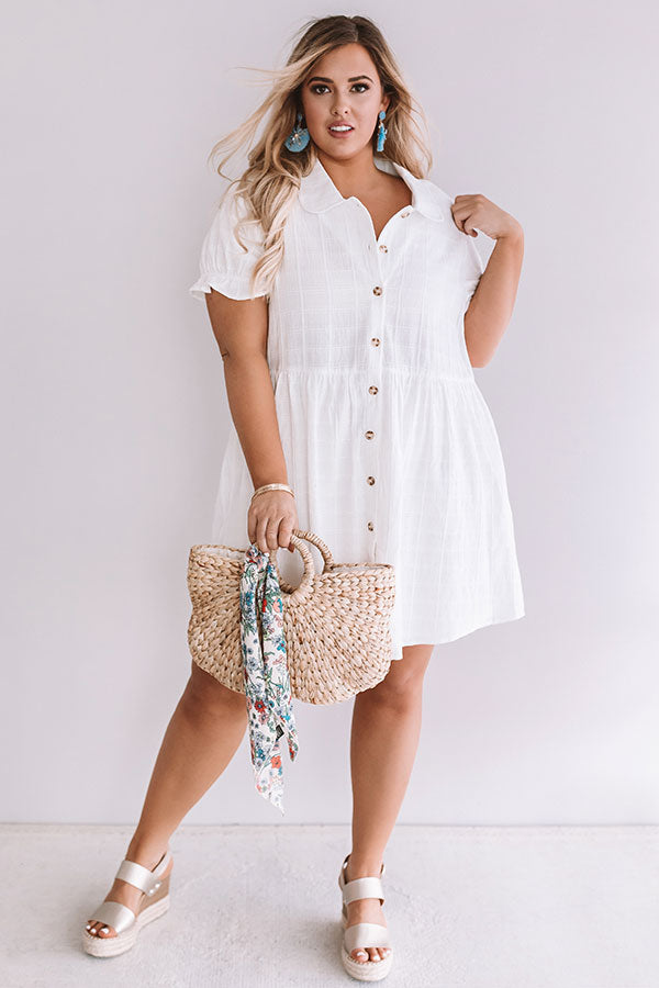 Brooklyn Luxe Babydoll Dress In White