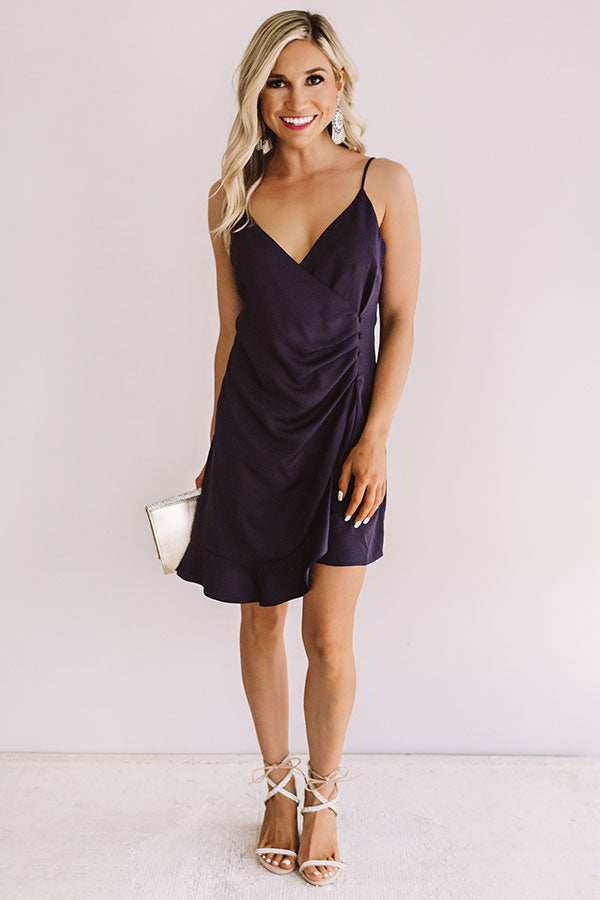 Romantic Moment Dress In Royal Plum