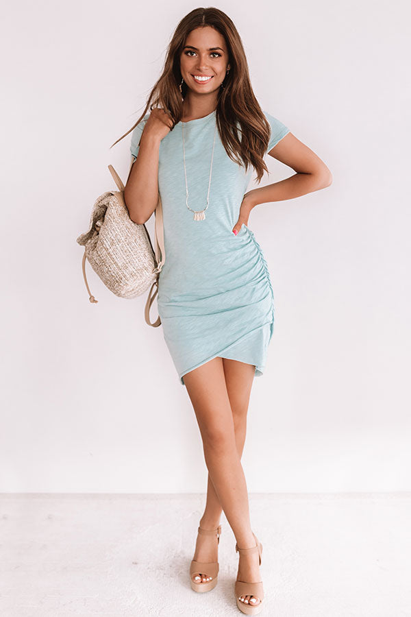 Coveted Chic Dress In Limpet Shell