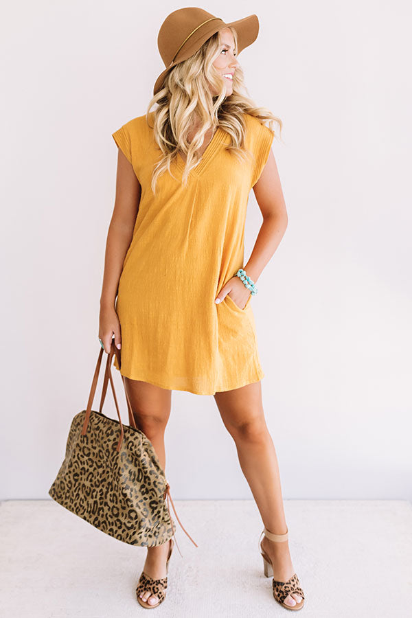 Sea Breeze Bliss Shift Dress In Honey