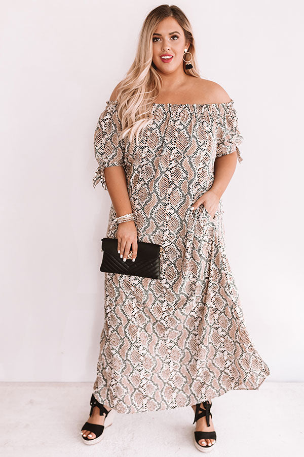Officially Obsessed Snake Print Maxi