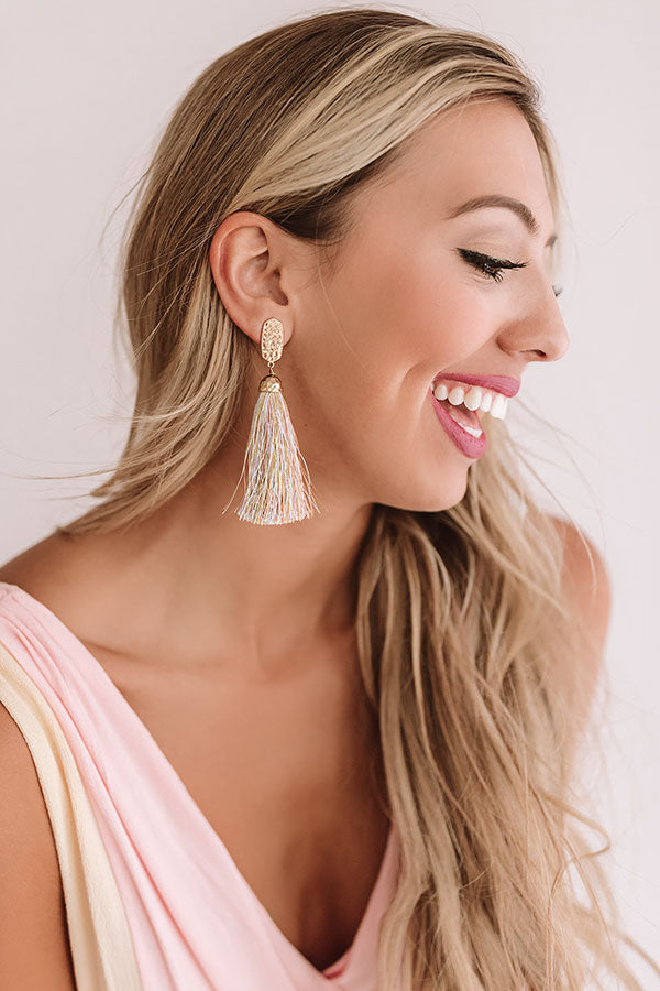 Cabana Fever Tassel Earrings In Multi