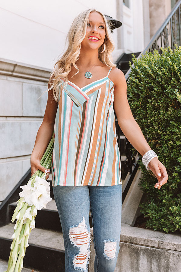 7f740dcd41dcc Walk The Line Stripe Shift Tank in Mint • Impressions Online Boutique