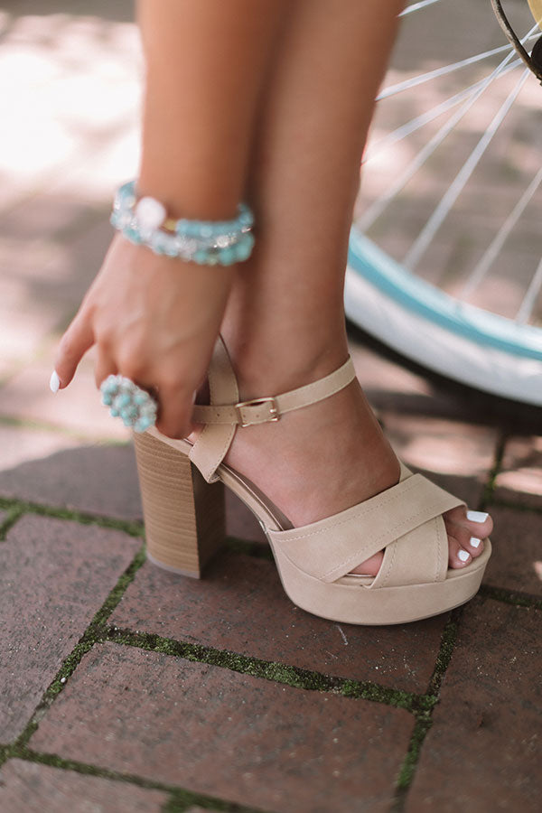 The Lyra Heel In Iced Latte
