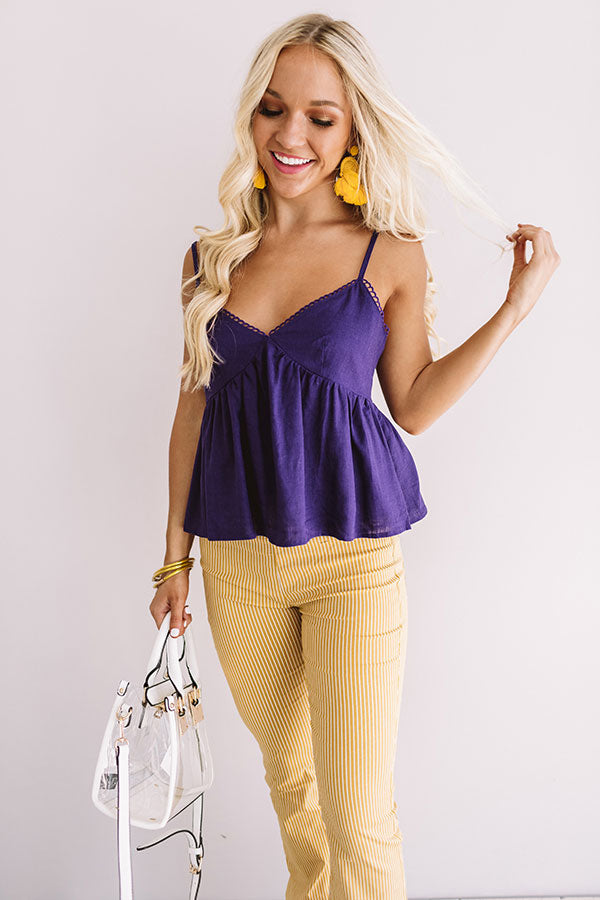 Meant For Margs Babydoll Tank In Purple