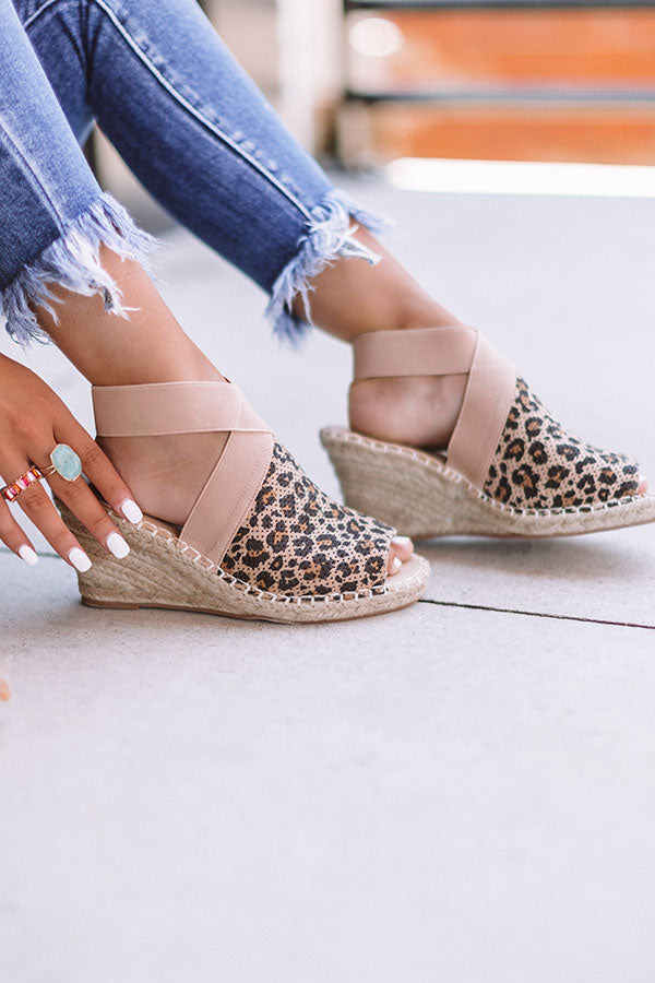 The Ashlyn Espadrille Wedge In Leopard