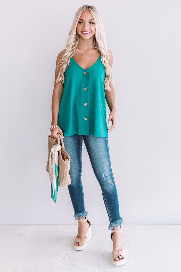 The Beauty Shift Tank In Turquoise