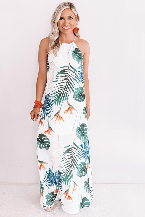 Dreamy Days Floral Maxi In White