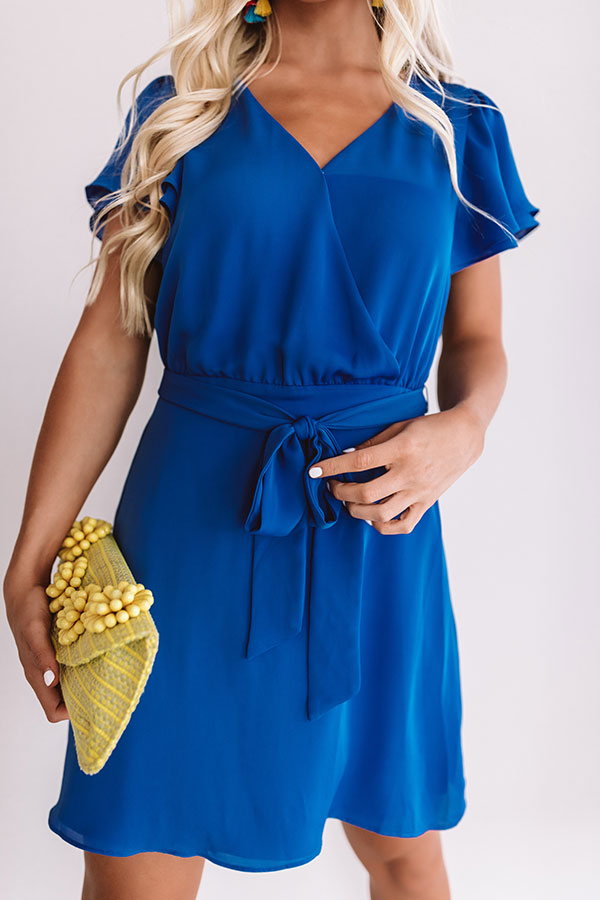 Venture To The Venue Dress In Royal Blue