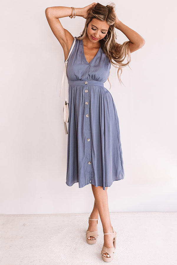 Jetsetter Chic Button Up Midi