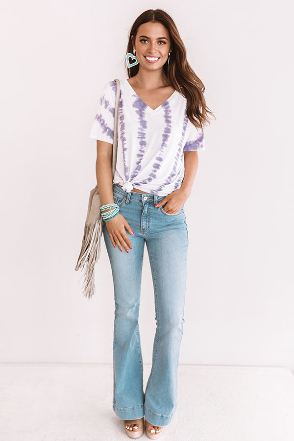 Soho Happiness Tie Dye Tee In Lavender