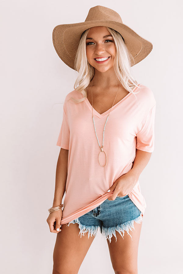 Magic Hour Shift Tee In Peach