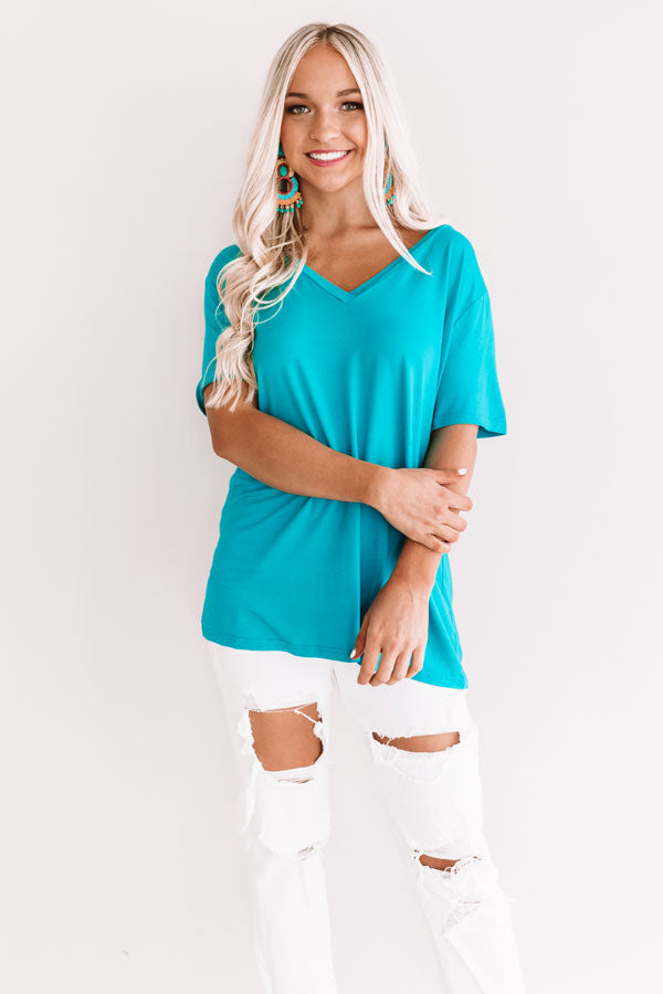 Magic Hour Shift Tee In Turquoise