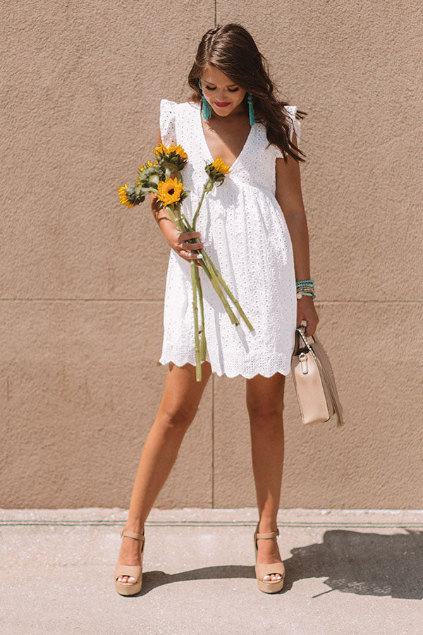 Sway Into Style Eyelet Romper White