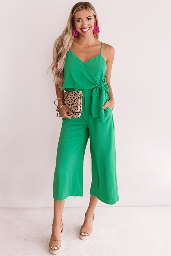 Rooftops And Romance Jumpsuit In Kelly Green