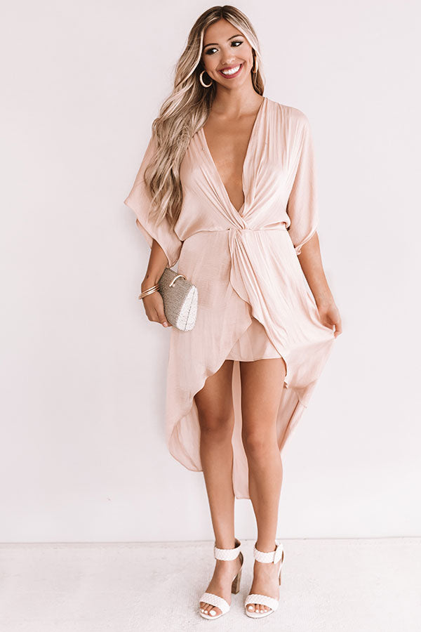 True Romantic Dress In Iced Latte