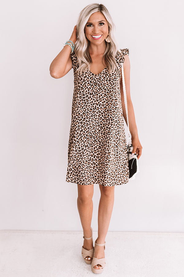 First And Outfit Goals Leopard Shift Dress