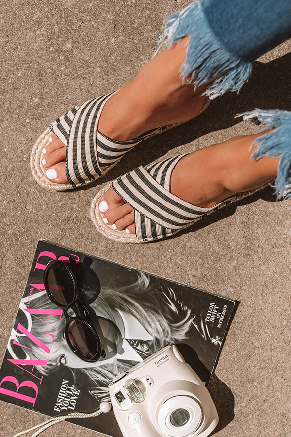 The Kieran Stripe Espadrille Sandal