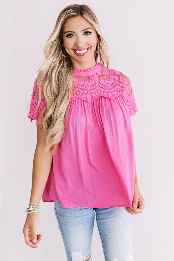 First Kiss Lace Shift Top
