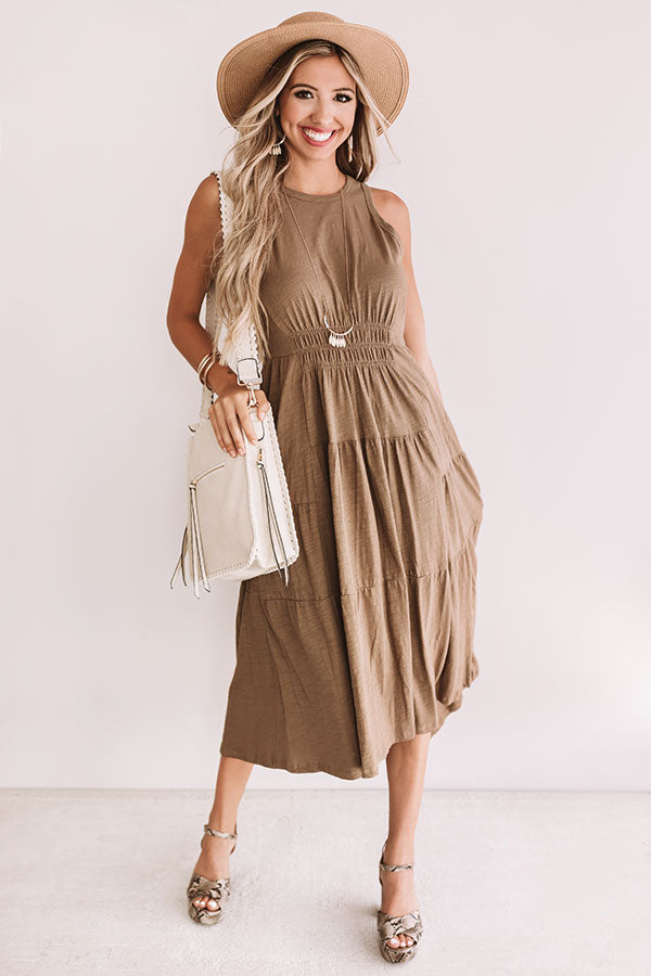 By The Beachside Midi In Mocha