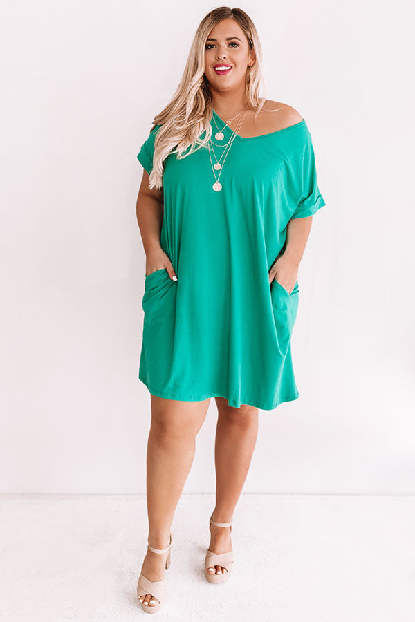 Back To Basics Shift Dress In Emerald