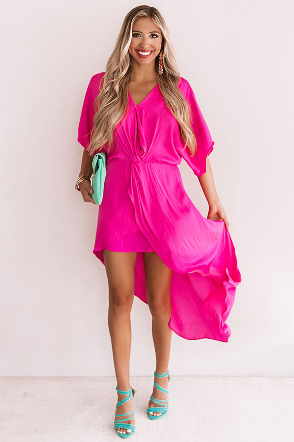 True Romantic Dress In Hot Pink
