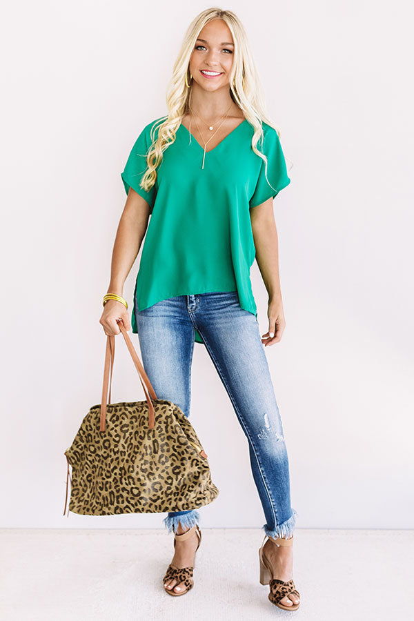 Effortless Style Shift Top In Green