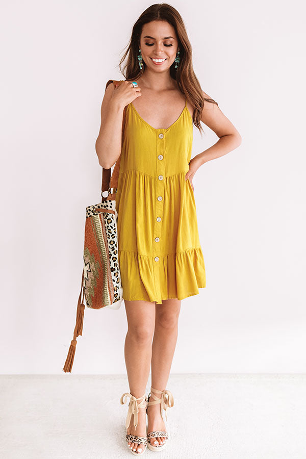 A Little Bit of Bubbly Button Down Dress in Primrose Yellow