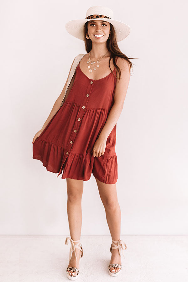 A Little Bit of Bubbly Button Down Dress in Aurora Red