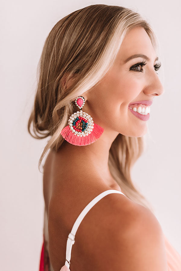 Styled So Pretty Earrings In Coral