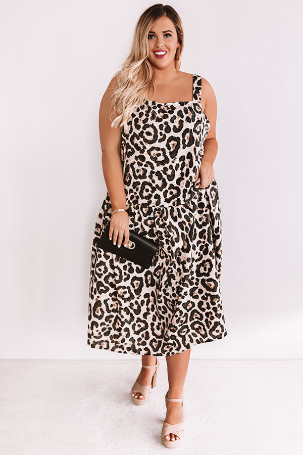 Red Carpet Runway Leopard Midi
