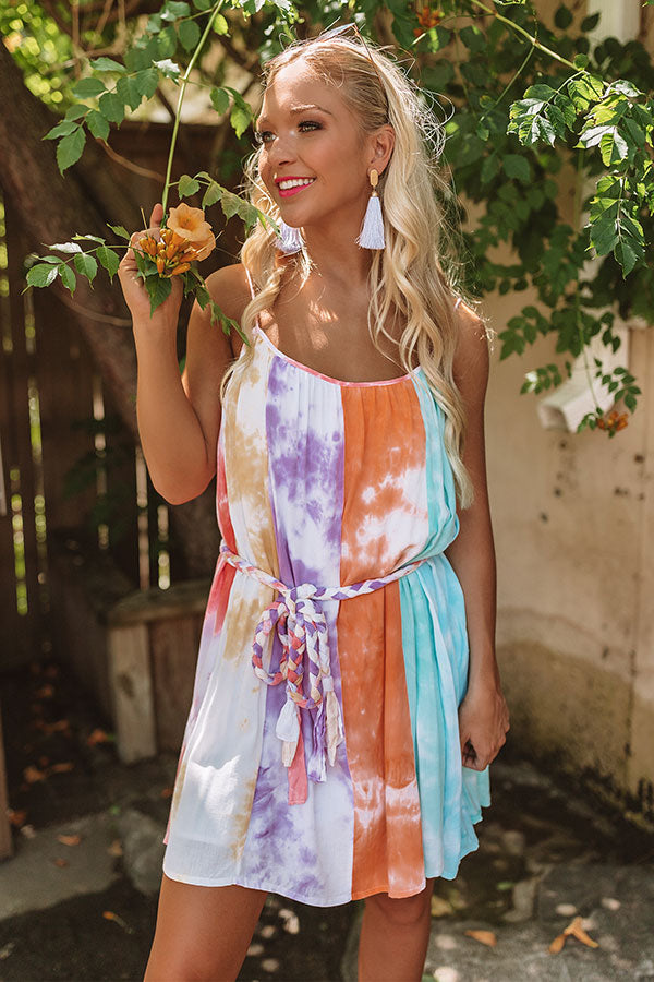 Cantinas And Cocktails Tie Dye Dress