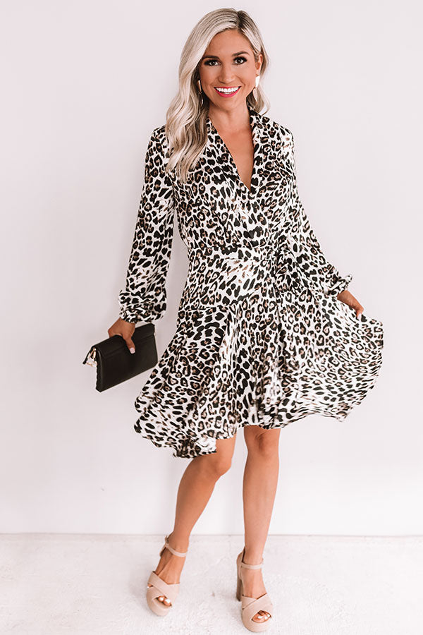 Leopard Lovin' Wrap Dress