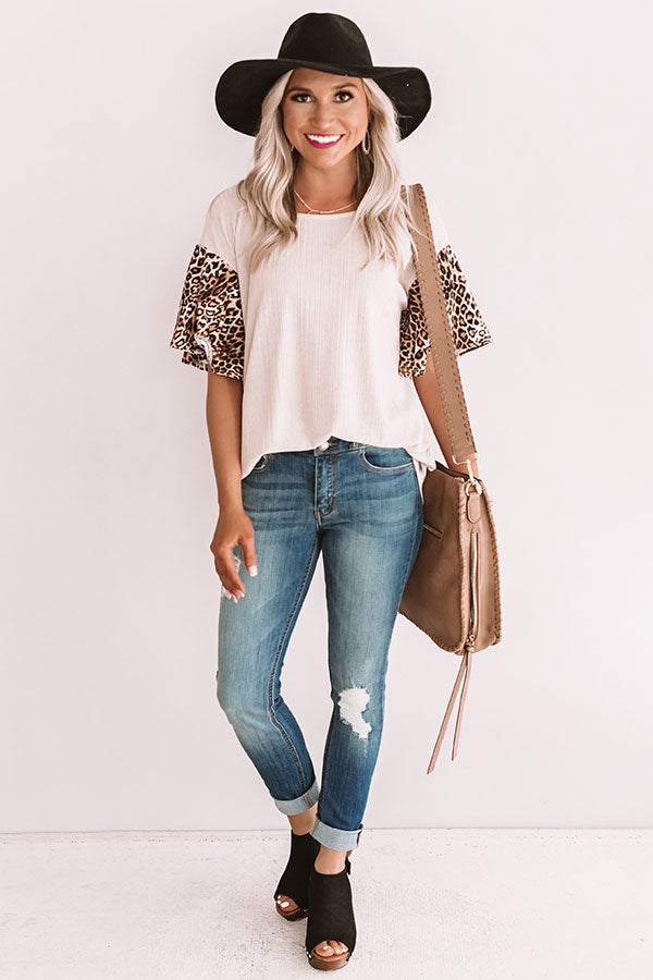 Brighton Brunch Leopard Shift Top