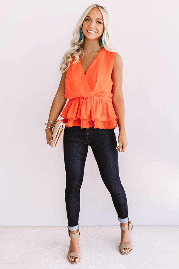 Big City Dreams Top In Tangerine