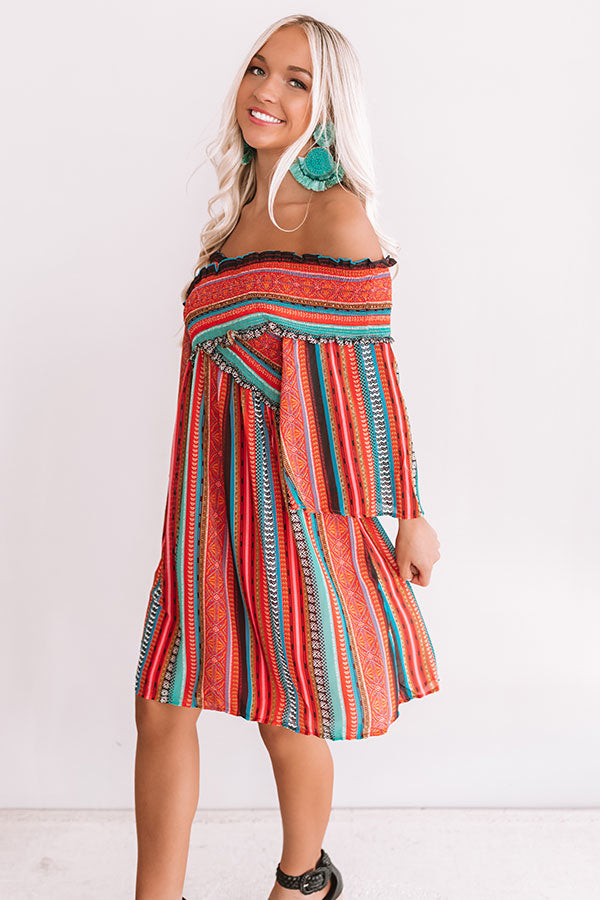Good Vibes, High Tides Smocked Dress