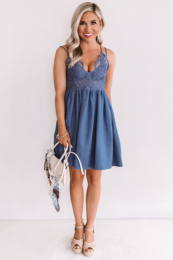 Swooning Over You Lace Dress