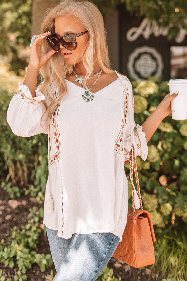 Witty And Chic Embroidered Top
