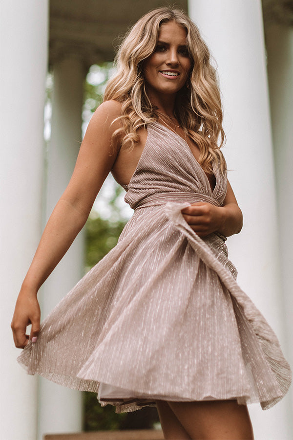 Prosecco Perfection Fit and Flare Dress
