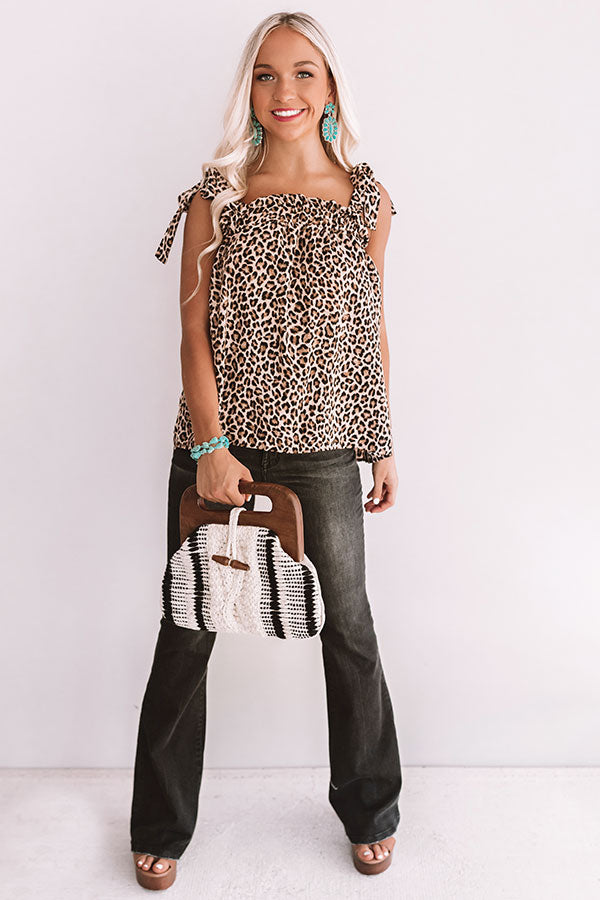 Love Rush Leopard Shift Top