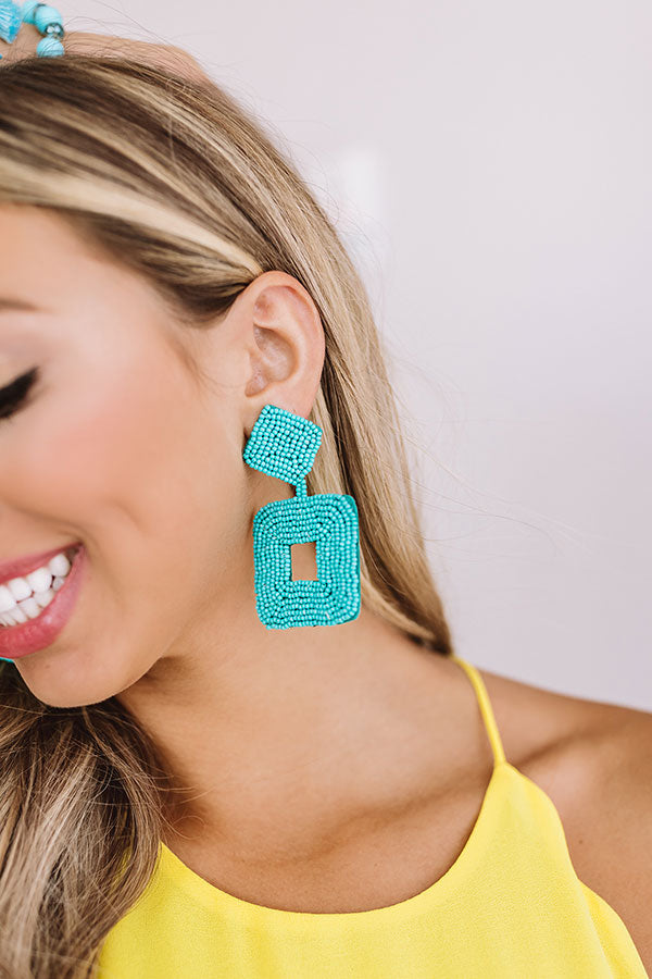 Spotted In Sonoma Beaded Earrings In Turquoise