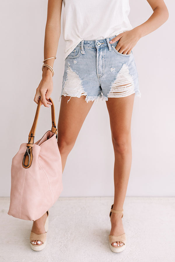 The Milo High Waist Distressed Shorts