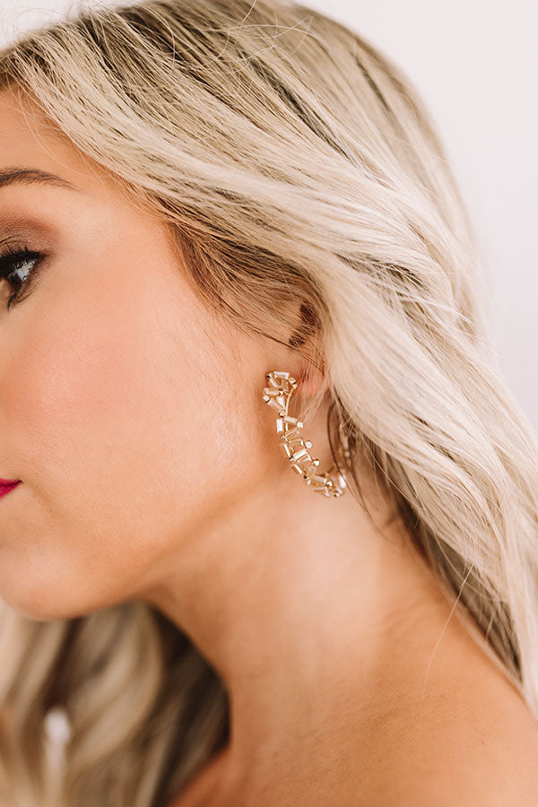Outshine Them All Earrings in Champagne