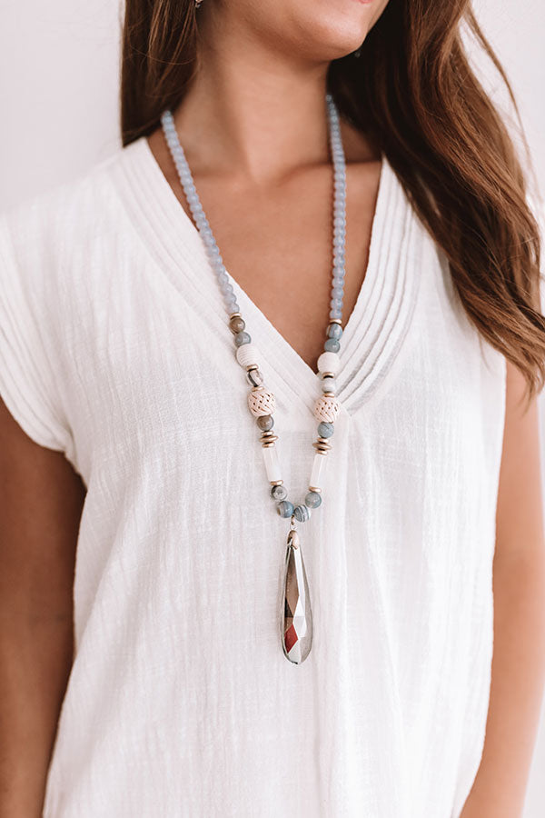Sea To It Semi Precious Necklace in Periwinkle