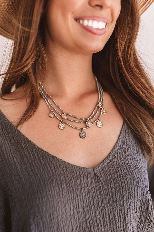 Epic Adventure Necklace In Grey