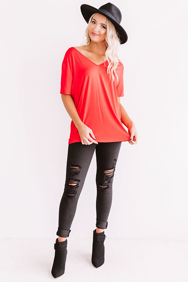 Magic Hour Shift Tee In Red
