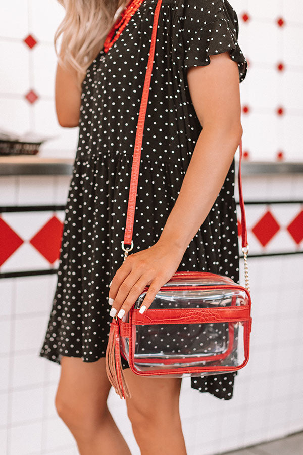 Tailgate Season Transparent Crossbody In Red