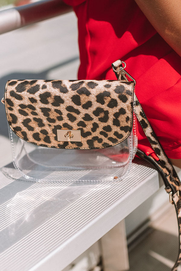 Game Day Gorgeous Transparent Leopard Crossbody