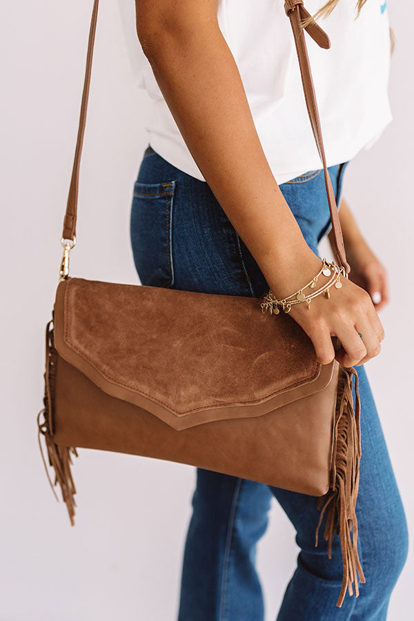 Bellinis With Besties Fringe Crossbody